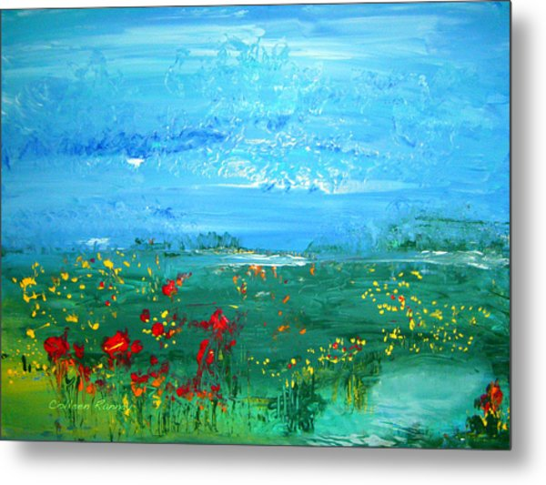 Meadow Pond By Colleen Ranney Metal Print