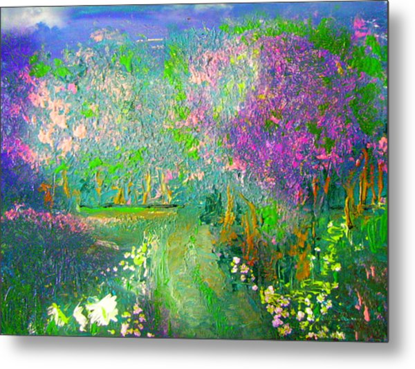 Meadow Trail By Colleen Ranney Metal Print