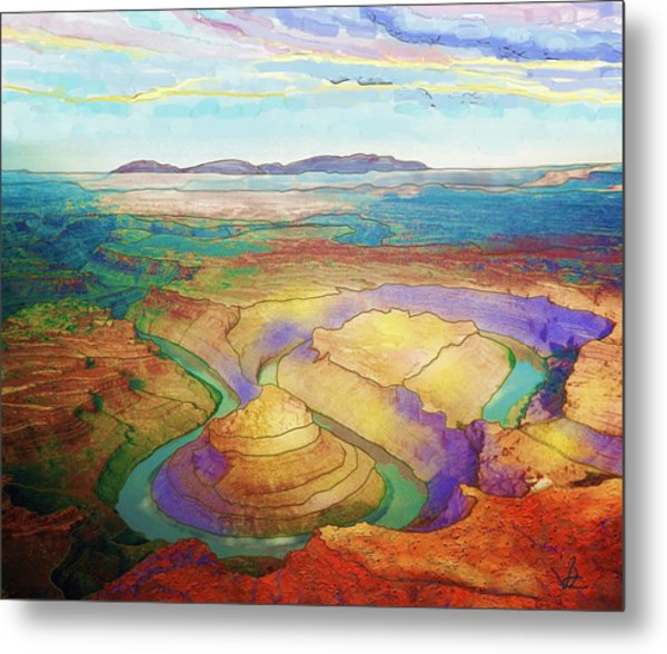 Meander Canyon Metal Print