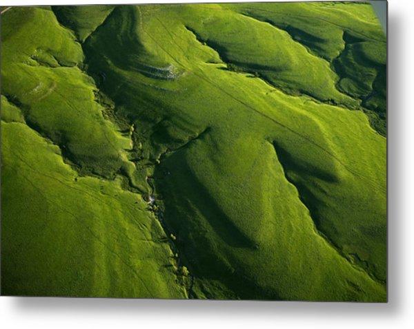 Meandering Valleys Of Texaco Hill Metal Print