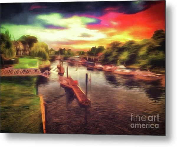 Meanwhile Back On The River Metal Print