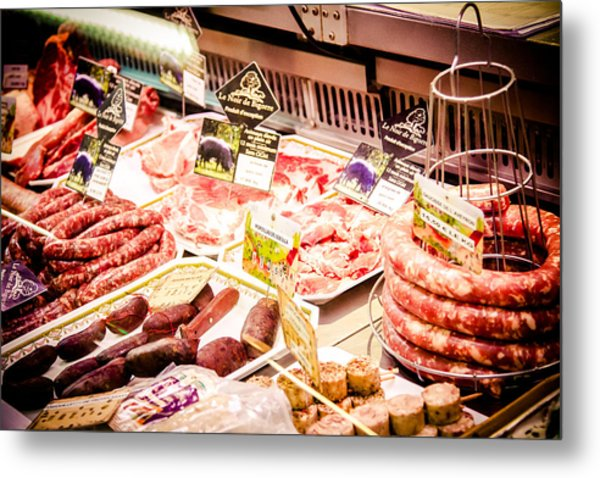 Metal Print featuring the photograph Meat Market by Jason Smith