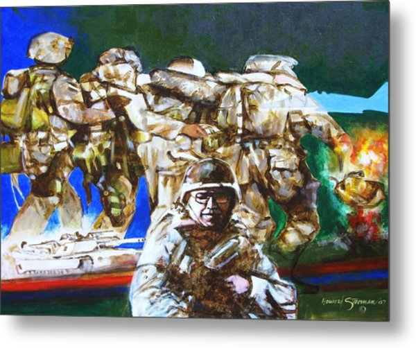 Med Evac Battle For Fallujah Iraq Metal Print by Howard Stroman
