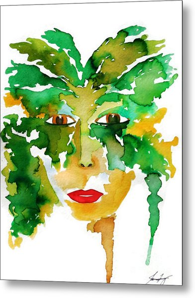 Medeina Goddess Of The Woodland Forest Metal Print