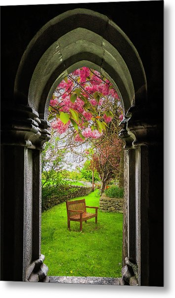Metal Print featuring the photograph Medieval Abbey In Irish Spring by James Truett
