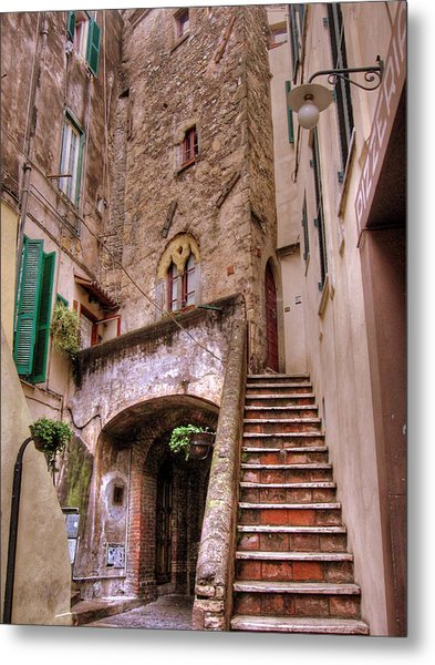Metal Print featuring the photograph Medieval Borgo In Nettuno by Jessica Tabora