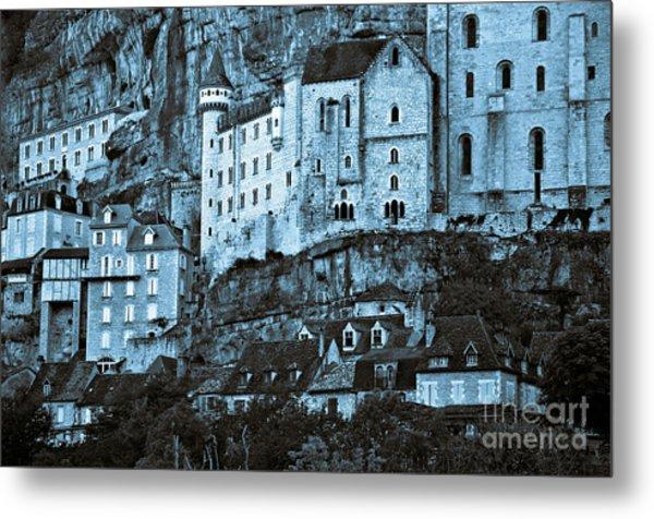 Medieval Castle In The Pilgrimage Town Of Rocamadour Metal Print