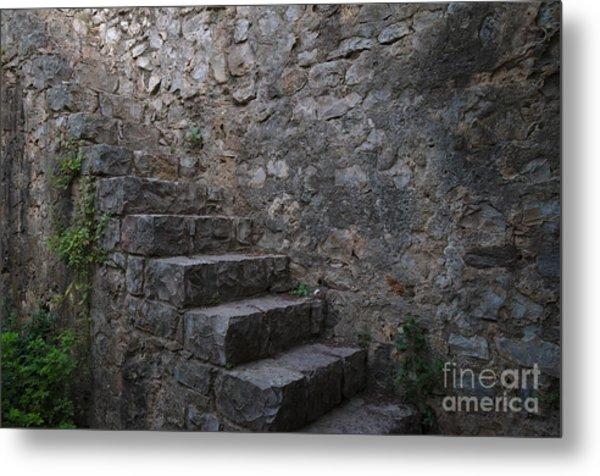 Medieval Wall Staircase Metal Print