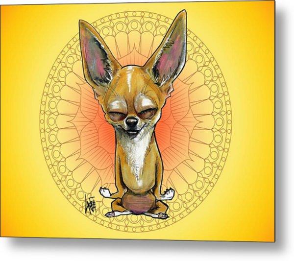 Meditating Chihuahua Metal Print