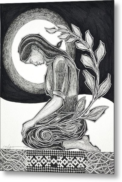 Meditation Metal Print by Raul Agner