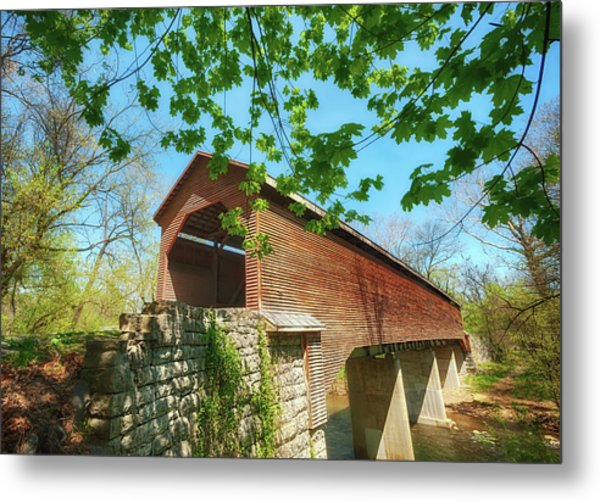 Meem's Bottom Bridge In Spring Metal Print