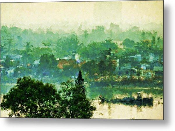 Mekong Morning Metal Print
