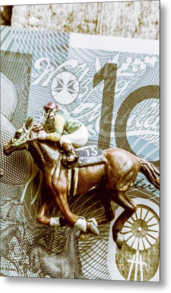 Melbourne Cup Wager Metal Print