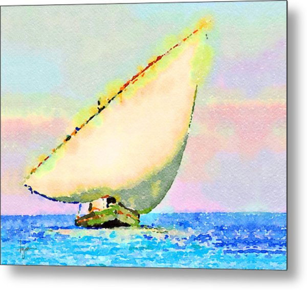 Metal Print featuring the painting Mellow Dawn by Angela Treat Lyon