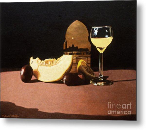 Melon And Orange Juice Metal Print by Daniel Montoya