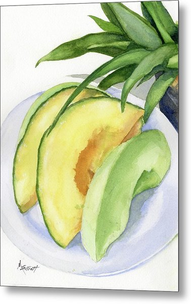 Melon Color Baby Metal Print