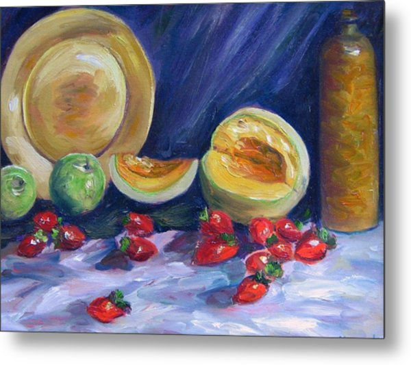 Melons With Strawberries Metal Print by Richard Nowak