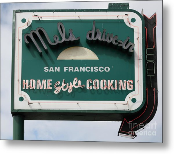 Mel's Drive-in Diner Sign In San Francisco - 5d18015 Metal Print