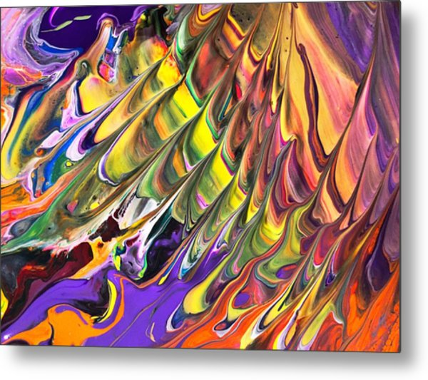 Melted Swirl Metal Print