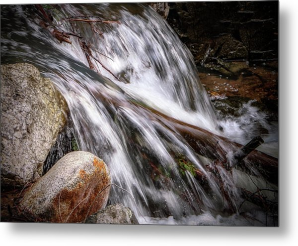 Melting Snow Falls Metal Print