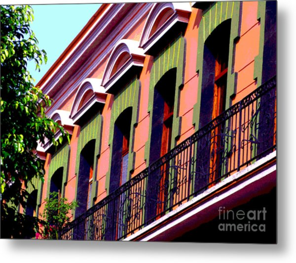 Melville Balcony By Darian Day Metal Print by Mexicolors Art Photography