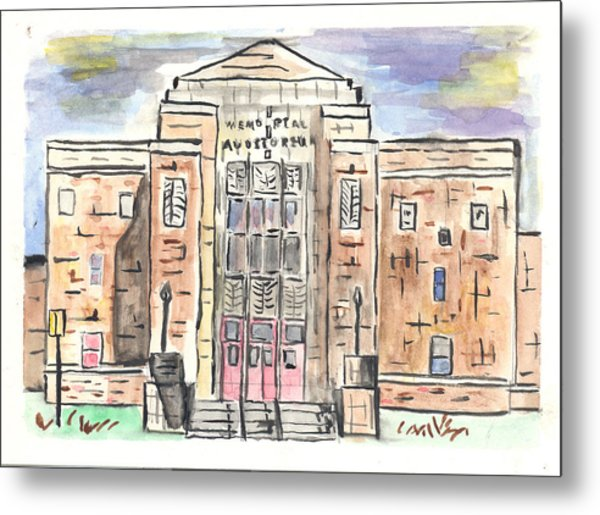 Memorial Auditorium  Metal Print
