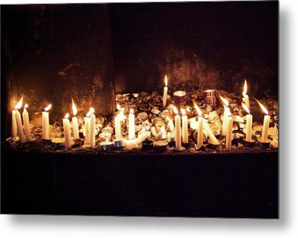Memorial Candles Metal Print