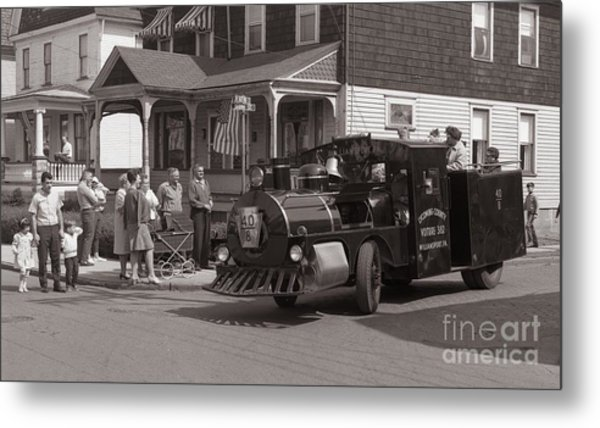 Memorial Day Parade  Ashley Pa  Corner Of W Hartford And Brown  Circa 1965 Metal Print