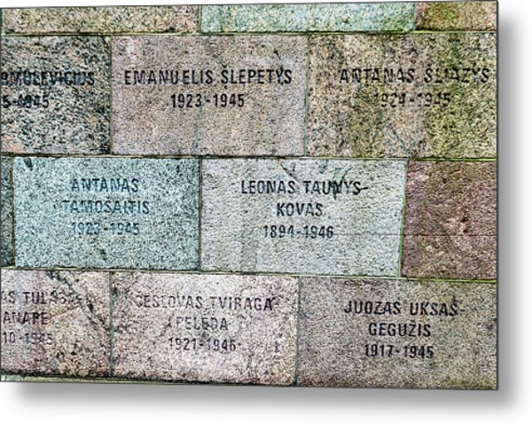 Memorial To Resistance Fighters Metal Print