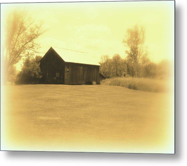 Memories Of Long Ago - Barn Metal Print