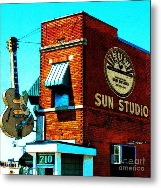 Memphis Sun Studio Birthplace Of Rock And Roll 20160215sketch Sq Metal Print