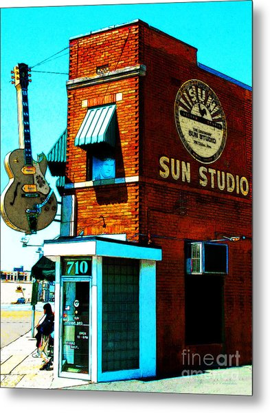 Memphis Sun Studio Birthplace Of Rock And Roll 20160215sketch Metal Print