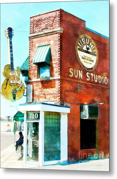 Memphis Sun Studio Birthplace Of Rock And Roll 20160215wcstyle Metal Print