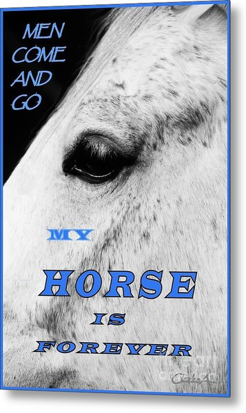 Men Come And Go - My Horse Is Forever Metal Print