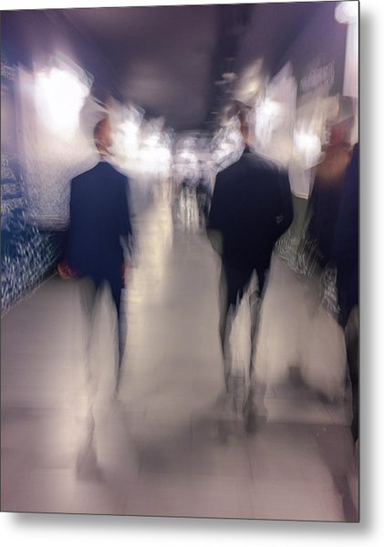Men In Suits Metal Print
