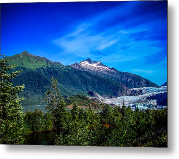 Mendenhall Glacier Alaska Metal Print