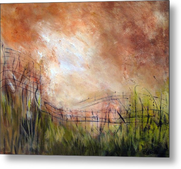 Mending Fences Metal Print