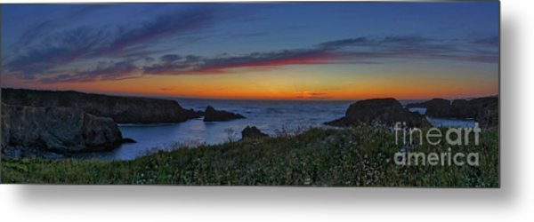 Mendocino Headlands Sunset Metal Print