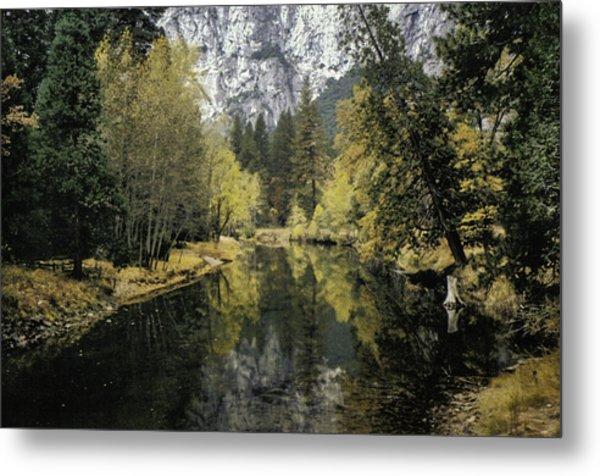 Merced River Reflection Metal Print