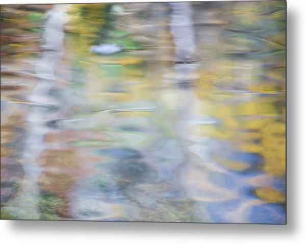 Merced River Reflections 6 Metal Print