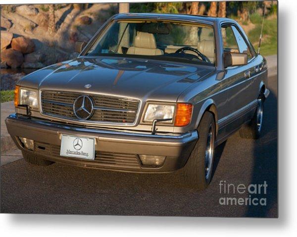 Mercedes 560sec W126 Metal Print