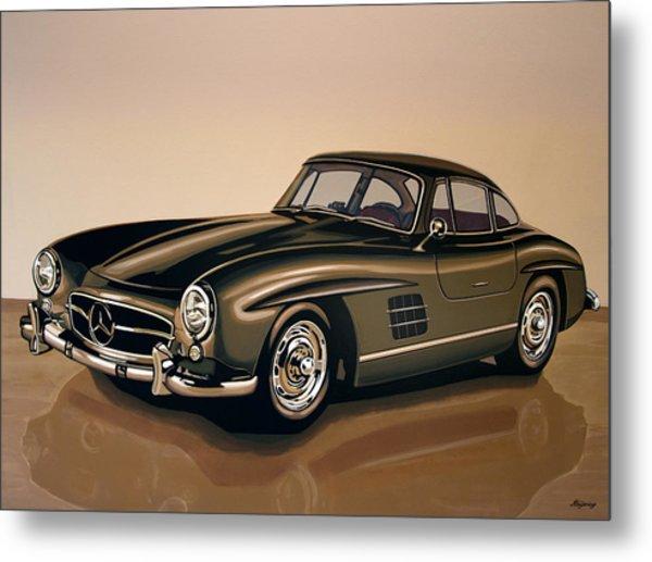 Mercedes Benz 300 Sl 1954 Painting Metal Print
