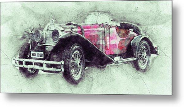 Mercedes-benz Ssk 3 - 1928 - Automotive Art - Car Posters Metal Print