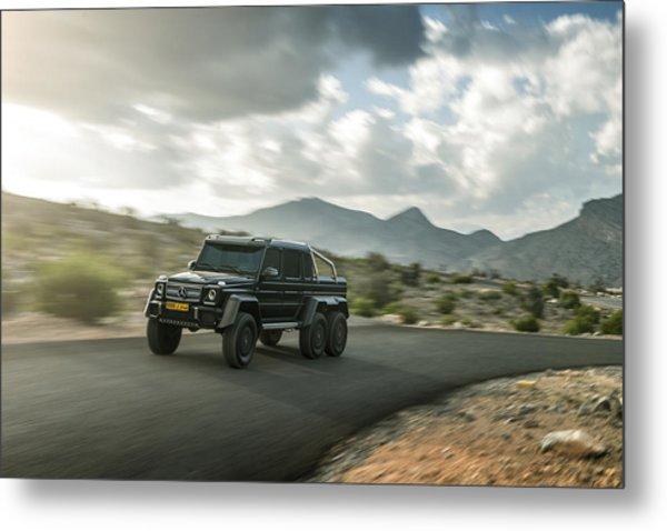 Mercedes G63 6x6 In Oman Metal Print