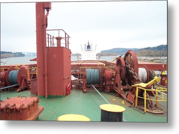 Merchant Vessel Deck Metal Print by Alan Espasandin
