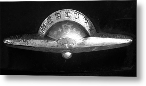 Mercury Emblem Metal Print by Audrey Venute