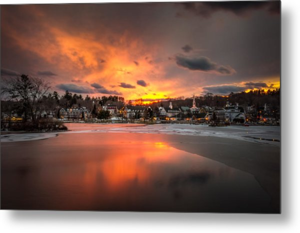 Meredith Sunset Metal Print