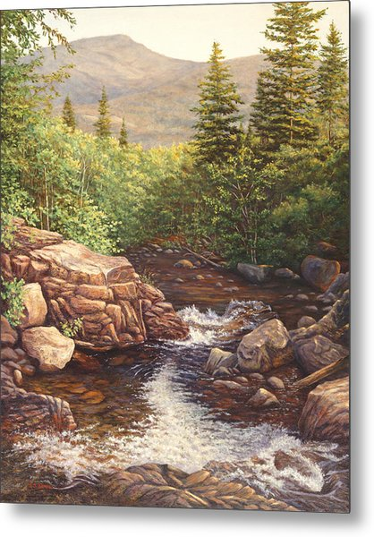 Crystal Cascade Falls, Pinkham Notch, Nh Metal Print by Elaine Farmer