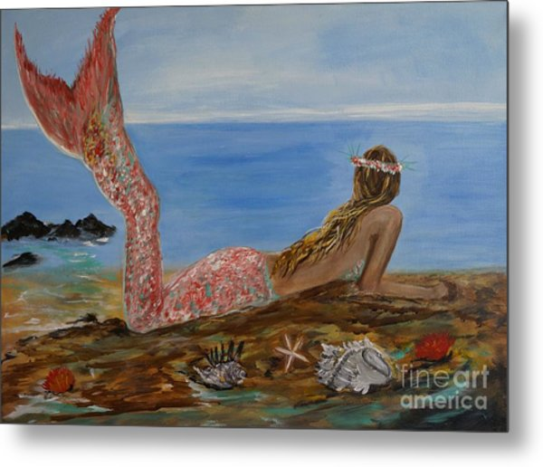 Mermaid Beauty Metal Print