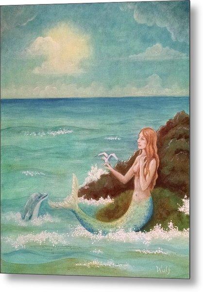 Mermaid Dreams Metal Print